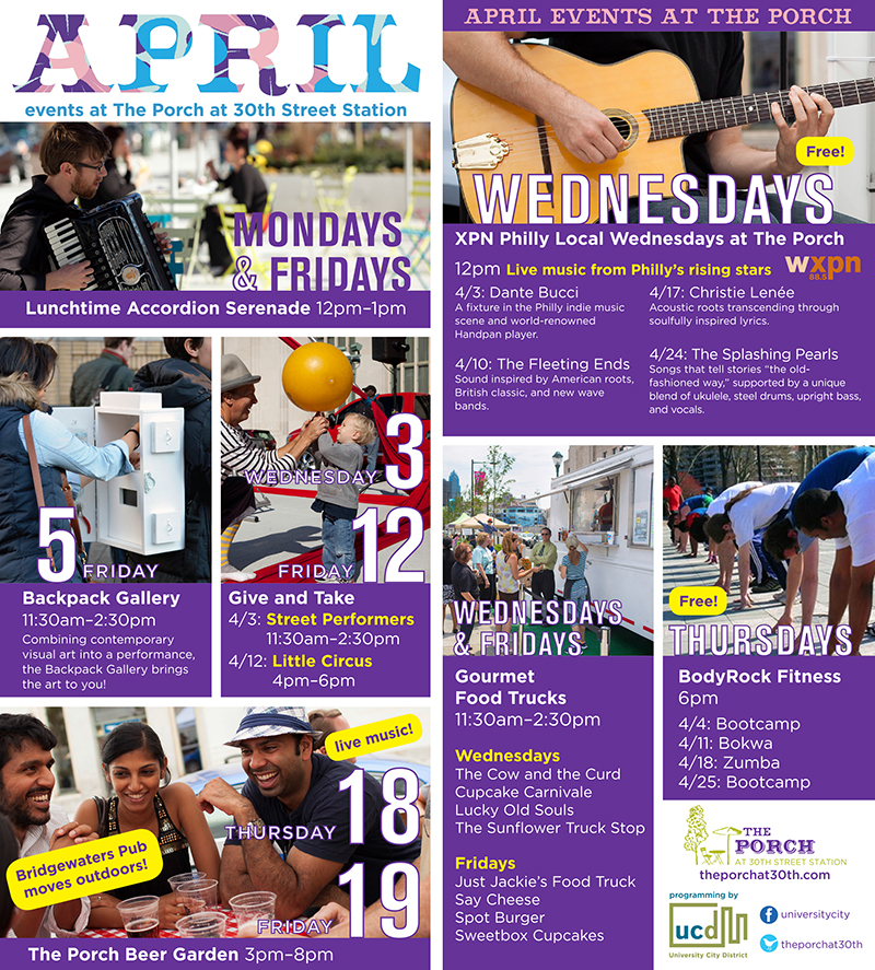 April events at The Porch