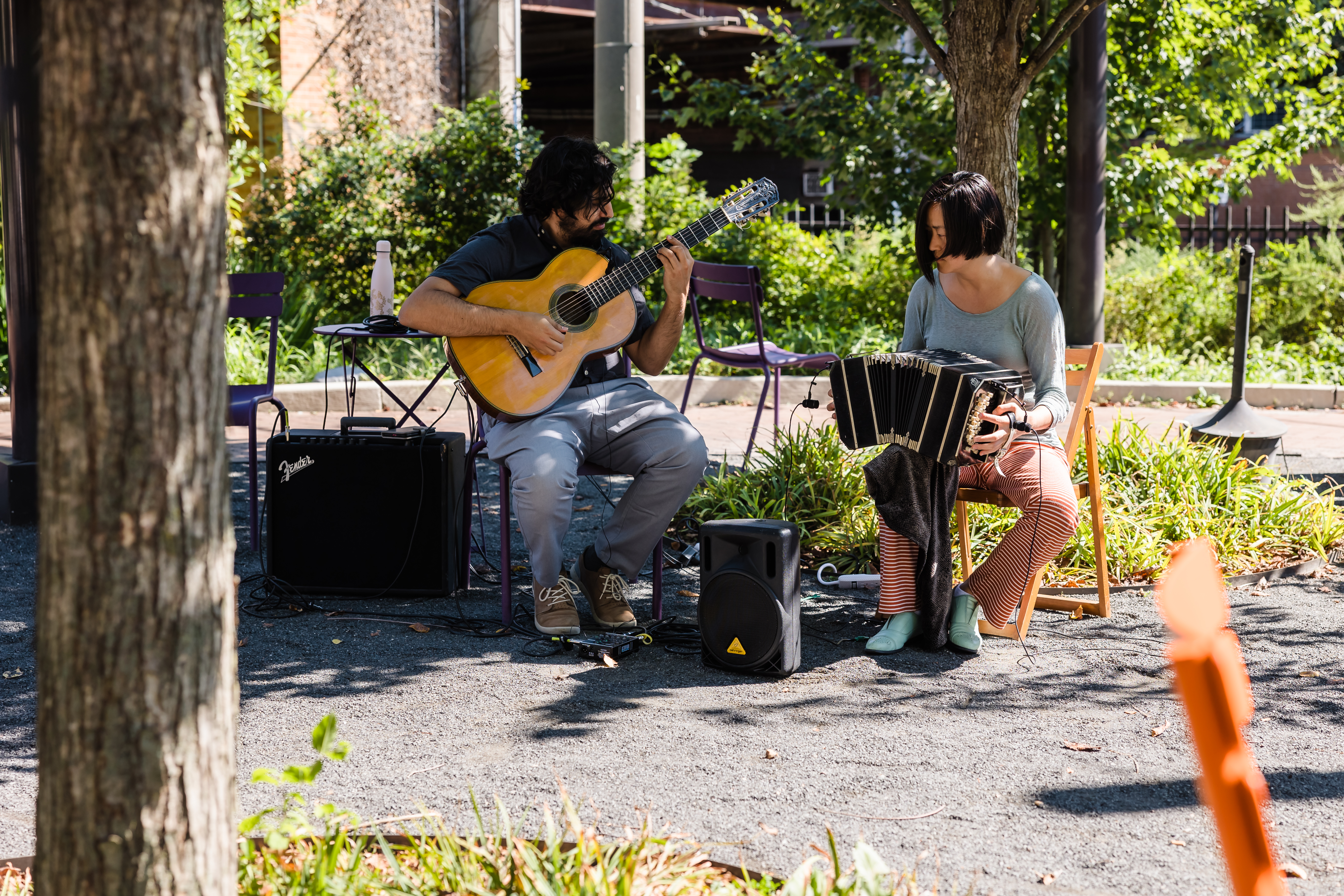 Live music at Trolley Portal Gardens