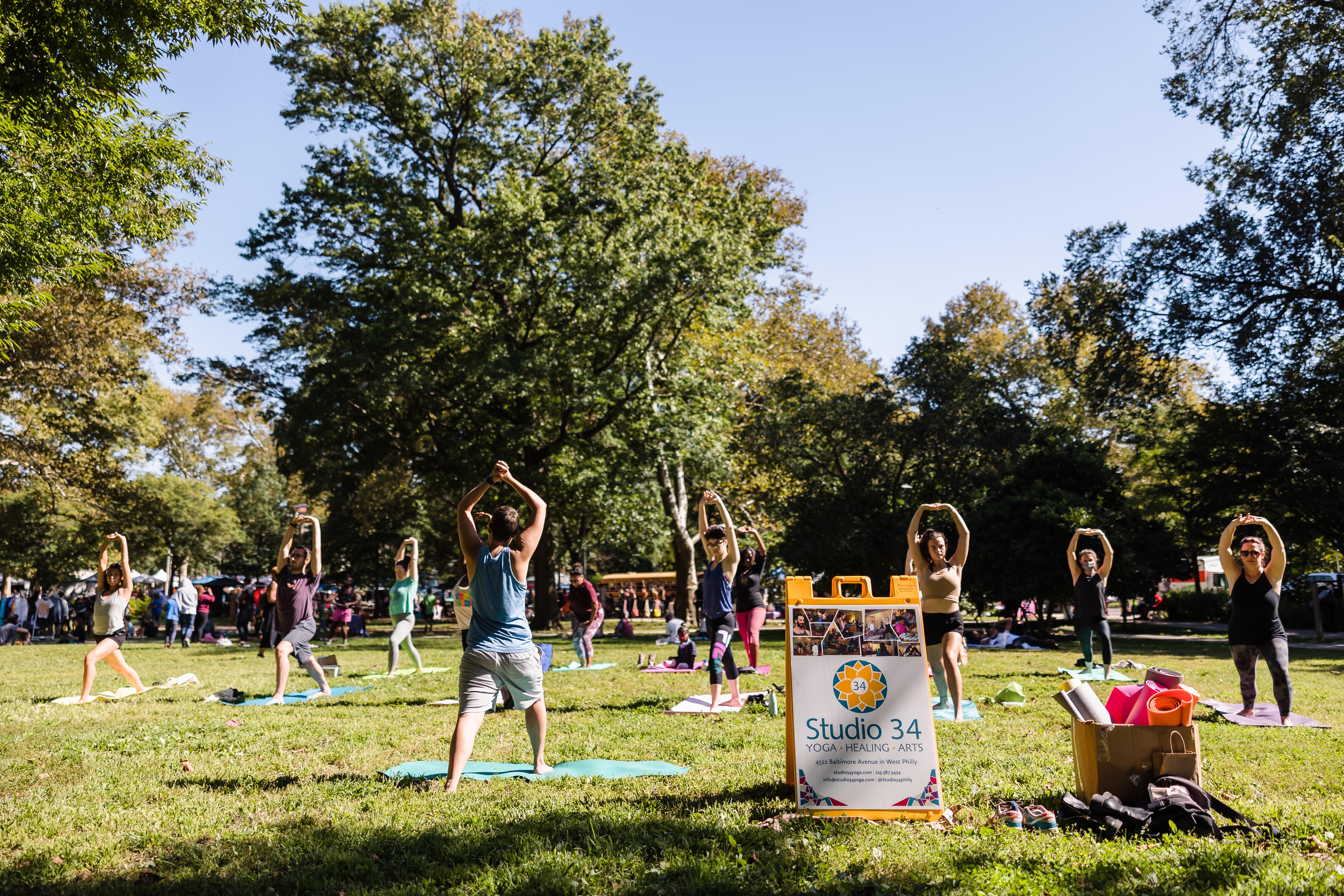 Yoga from Studio 34 in Clark Park