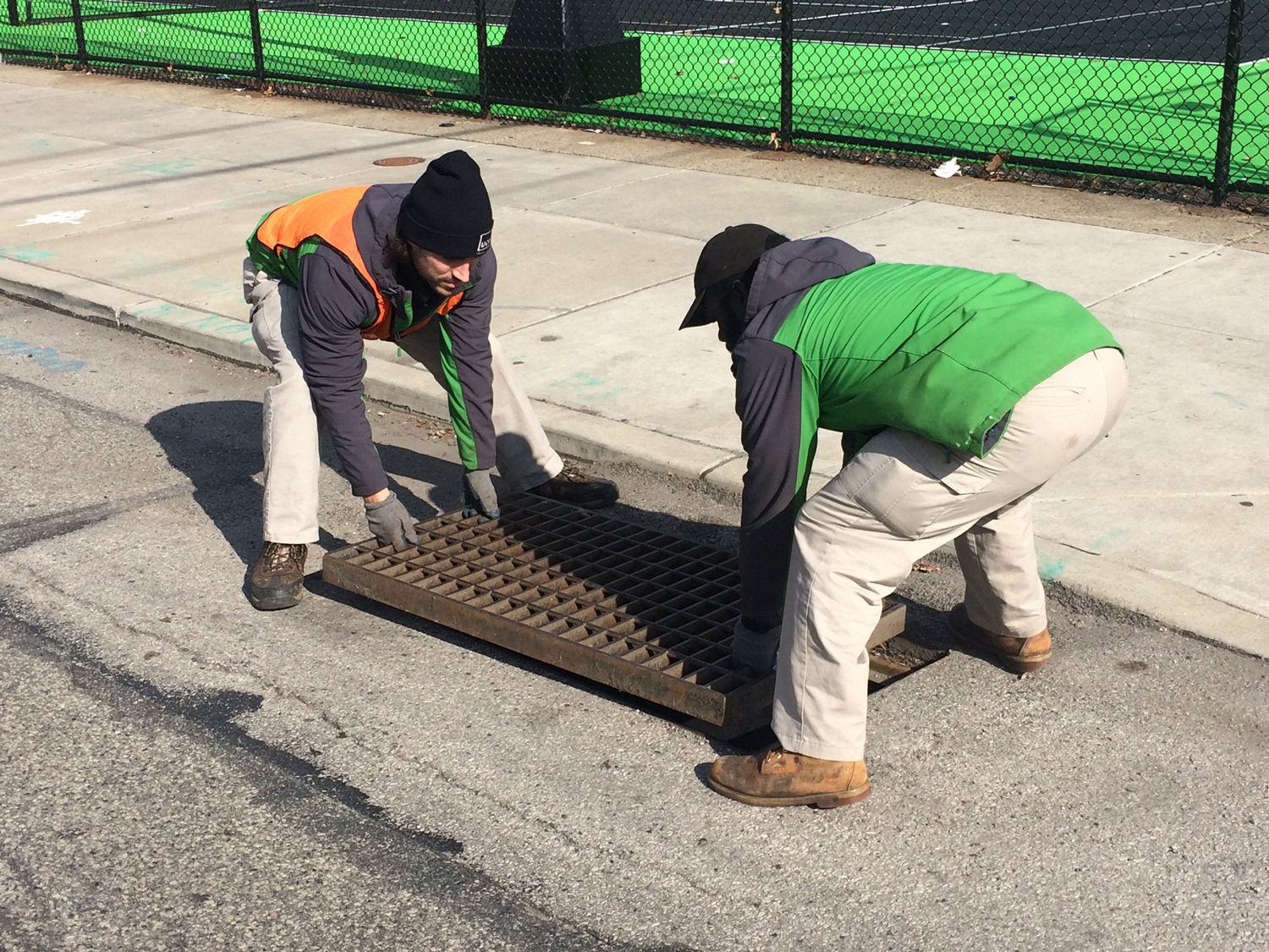 Green City Works conducts green stormwater infrastructure maintenance across the district.