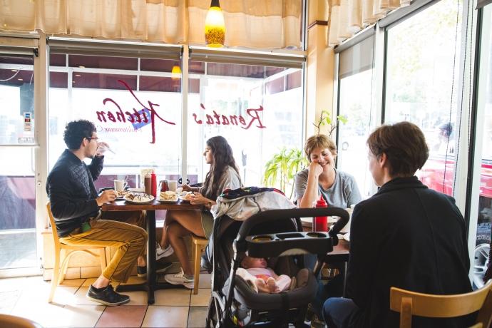 Customers dine at Renata's Kitchen