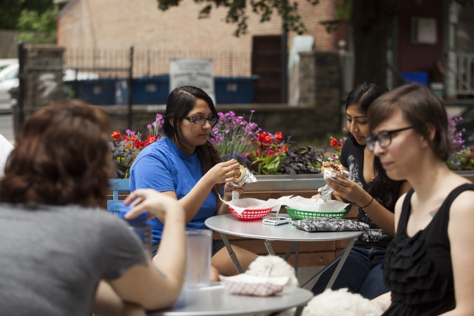 Outdoor dining in University City