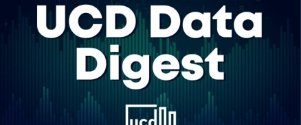 A graphic depicting the logo for the UCD Data Digest
