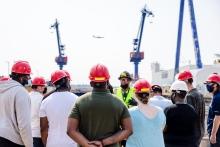 A group of Shipyard participants on a tour