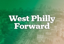 A graphic depicting the logo for the West Philly Forward fundraising campaign