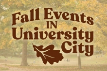 A graphic depicting fall events in University City